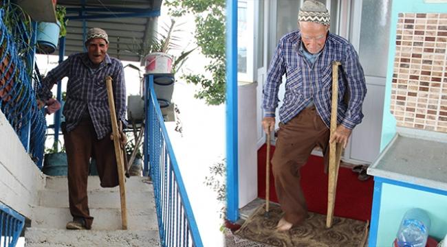 Devlete yük olmamak için protez bacak bile almadı...