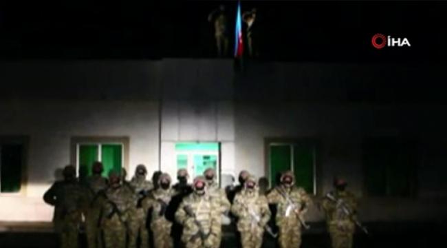28 yıl sonra Laçin'de Azerbaycan bayrağı