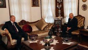 Cumhurbaşkanı Recep Tayyip Erdoğan, MHP Genel Başkanı Devlet Bahçeli'yi ziyaret ediyor.