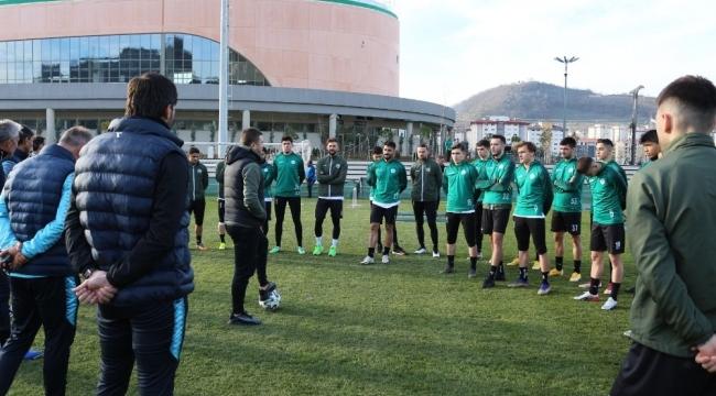Giresunspor, Menemenspor maçı hazırlıklarını sürdürüyor