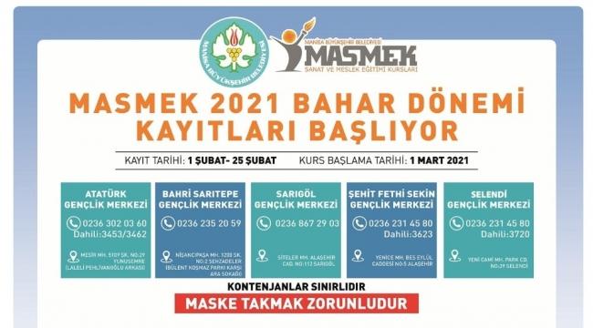 MASMEK'lerde 2021 Bahar Dönemi kurs kayıtları başlıyor