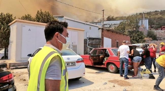 Bodrum'da bir yangın daha : Çevredeki evler boşaltılıyor!
