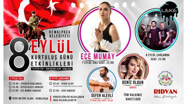 Kemalpaşa'da 8 Eylül çoşkuyla kutlanacak